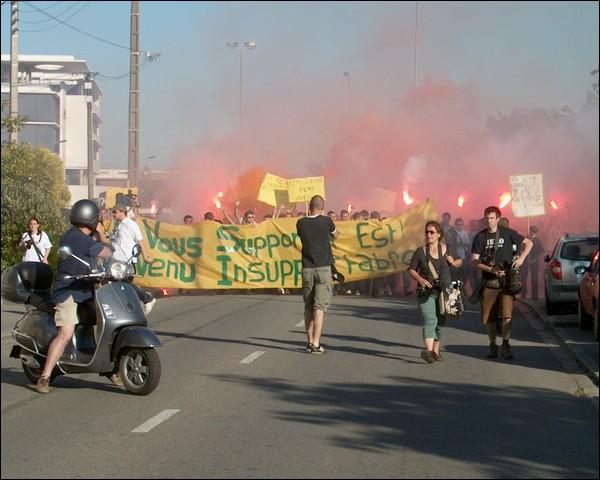 Les supporters nantais manifestent contre la politique de Kita
